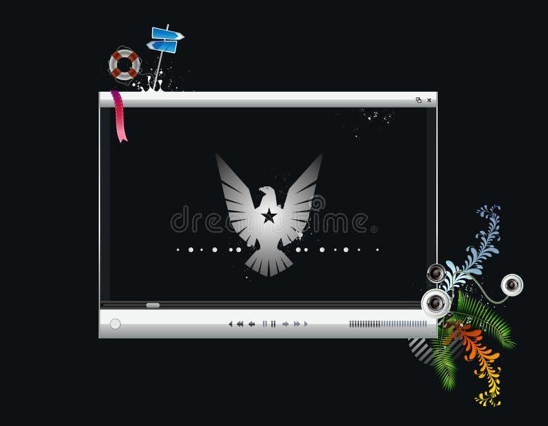 Het vector videoscherm, de speler royalty-vrije illustratie