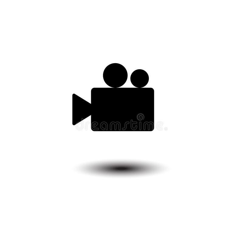 Het vector vlakke ontwerp van het videocamerapictogram Eps 10 stock illustratie