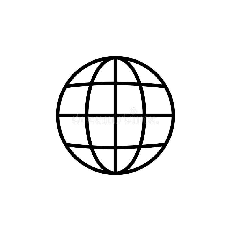 Het vector vlakke pictogram van Internet Ga naar Webteken voor websiteontwerp, embleem, app, UI Illustratie, EPS10 royalty-vrije illustratie
