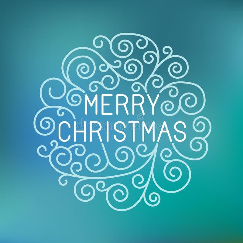Het vector vrolijke Kerstmishand van letters voorzien vector illustratie