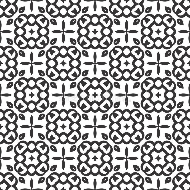 Het vector zwarte wit herhaalt ontwerpen royalty-vrije illustratie