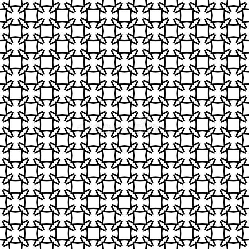 Het vector zwarte wit herhaalt ontwerpen vector illustratie