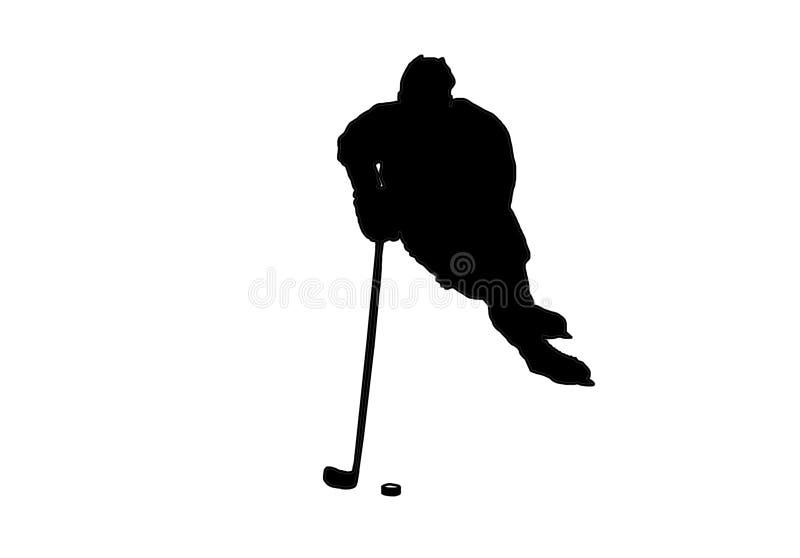 Het vectorbeeld van de ijshockeyspeler stock illustratie