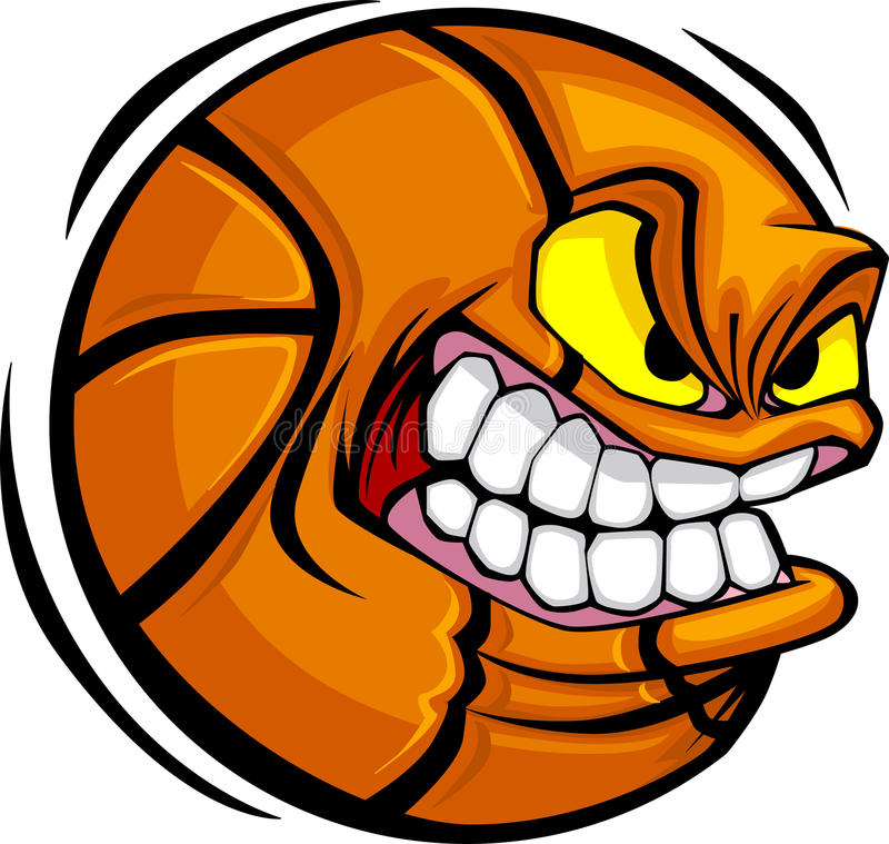 Het VectorBeeld van het Gezicht van de Bal van het basketbal royalty-vrije illustratie