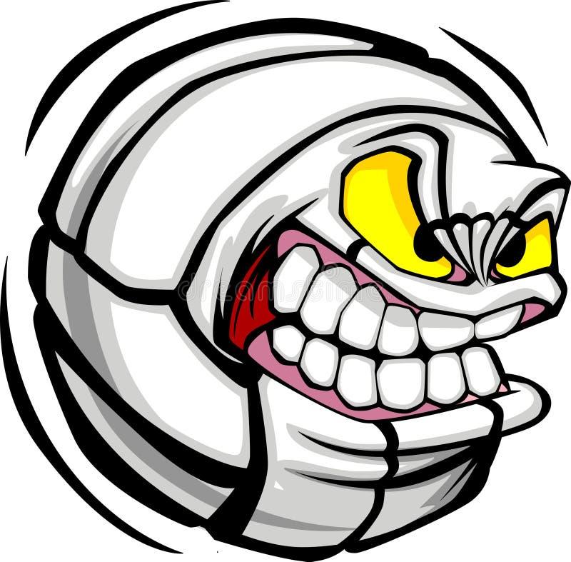 Het VectorBeeld van het Gezicht van de Bal van het volleyball vector illustratie