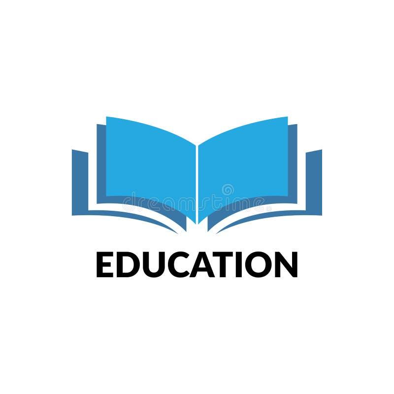 het vectorbeeld van het onderwijsembleem stock illustratie