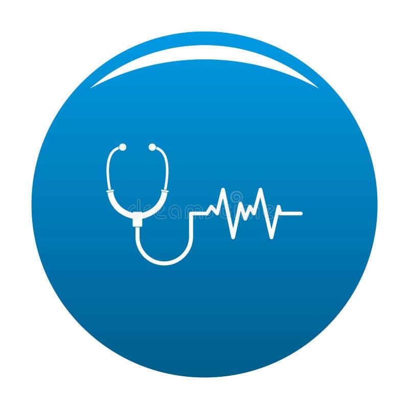 Het vectorblauw van het stethoscooppictogram stock illustratie