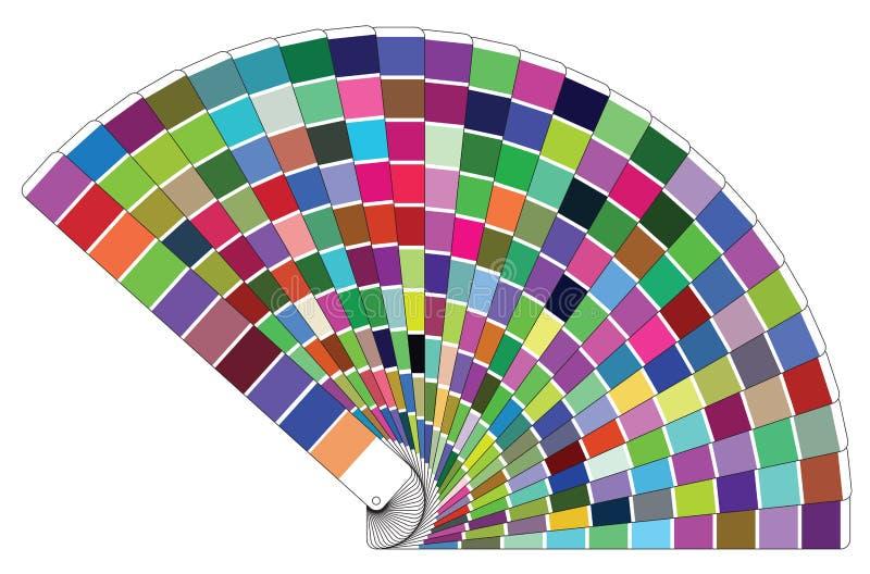 Het vectorboek van het kleurenpalet royalty-vrije illustratie