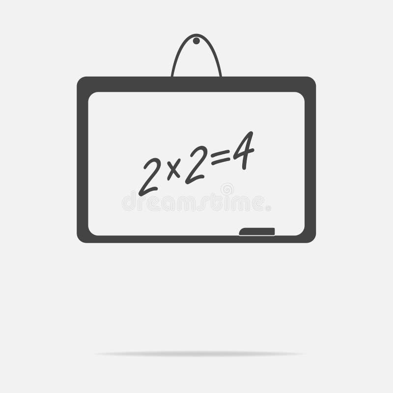 Het vectorbord van de pictogramschool stock illustratie