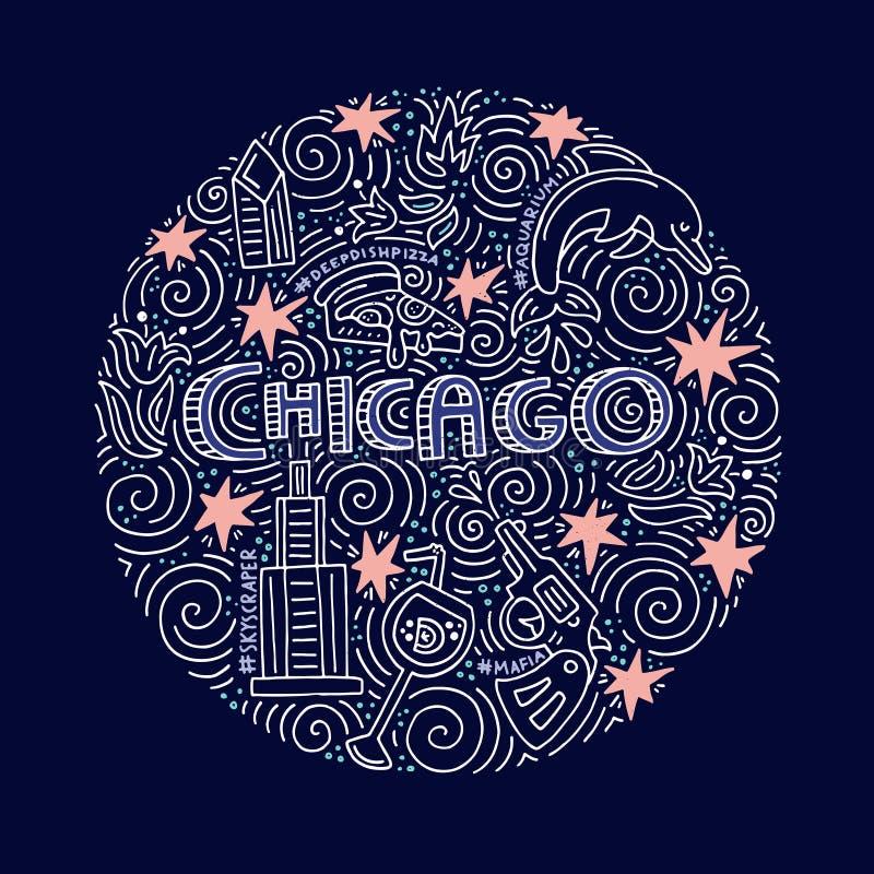 Het Vectorconcept van Chicago vector illustratie