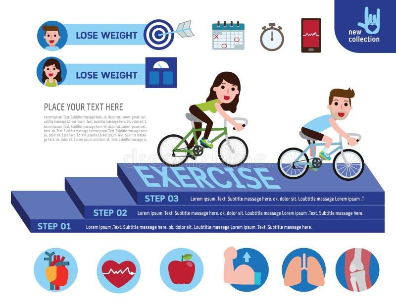 Het vectorconcept van de de banner infographic gezondheid van het beeldverhaalontwerp stock illustratie