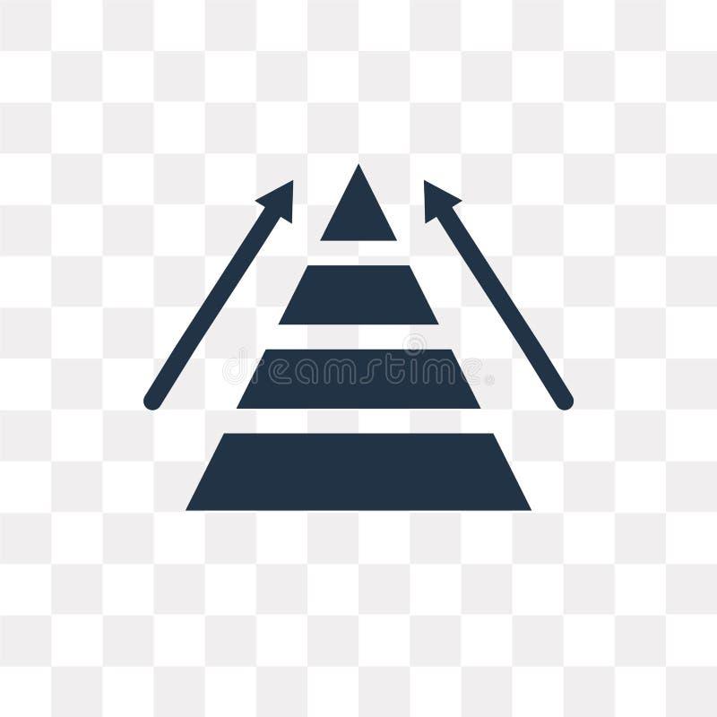 Het vectordiepictogram van de piramidegrafiek op transparante achtergrond, Py wordt geïsoleerd royalty-vrije illustratie