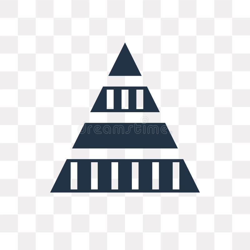 Het vectordiepictogram van de piramidegrafiek op transparante achtergrond, Py wordt geïsoleerd vector illustratie