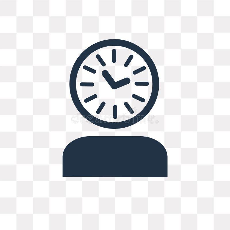 Het vectordiepictogram van de tijddruk op transparante achtergrond, Ti wordt geïsoleerd vector illustratie