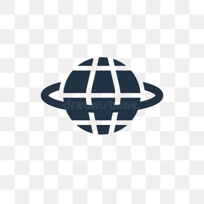 Het vectordiepictogram van Internet op transparante achtergrond, Intern wordt geïsoleerd stock illustratie