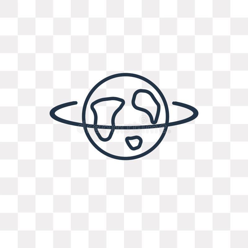 Het vectordiepictogram van Internet op transparante lineaire achtergrond wordt geïsoleerd, royalty-vrije illustratie