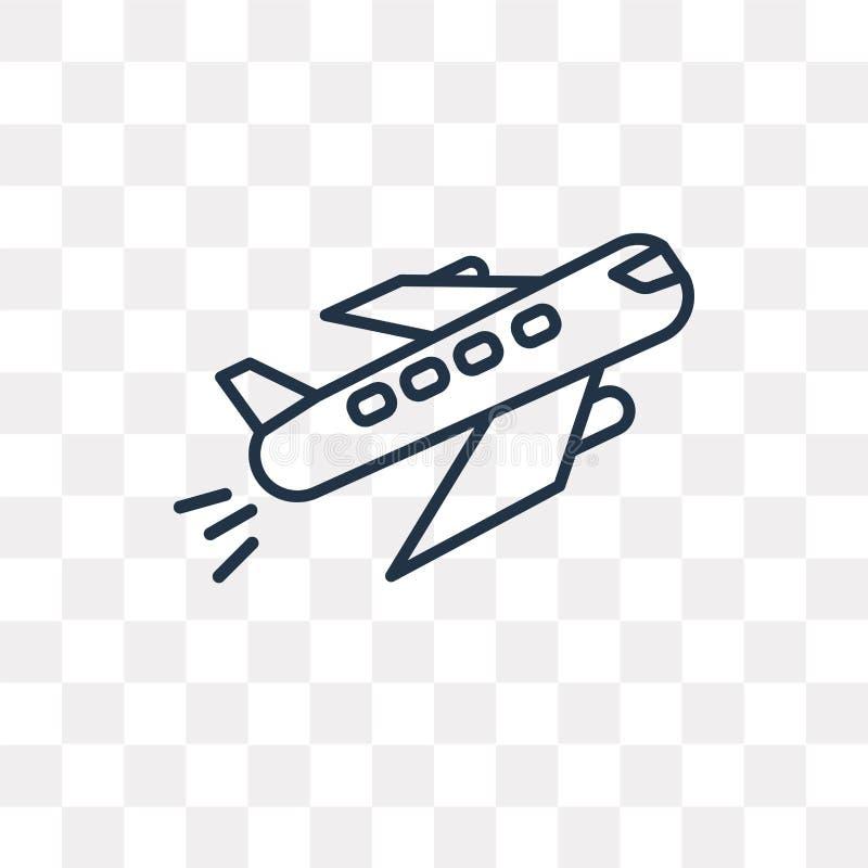 Het vectordiepictogram van vertrekvluchten op transparante backgroun wordt geïsoleerd stock illustratie
