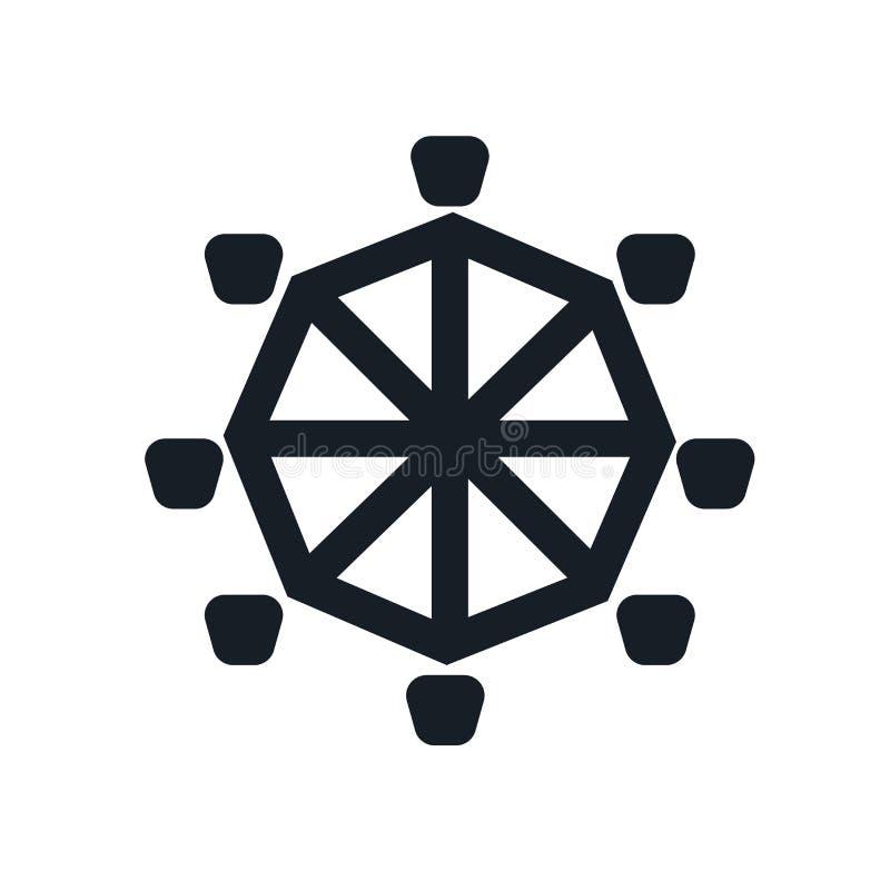 Het het vectordieteken en symbool van het achtbaanpictogram op witte achtergrond, het concept van het Achtbaanembleem wordt geïso stock illustratie