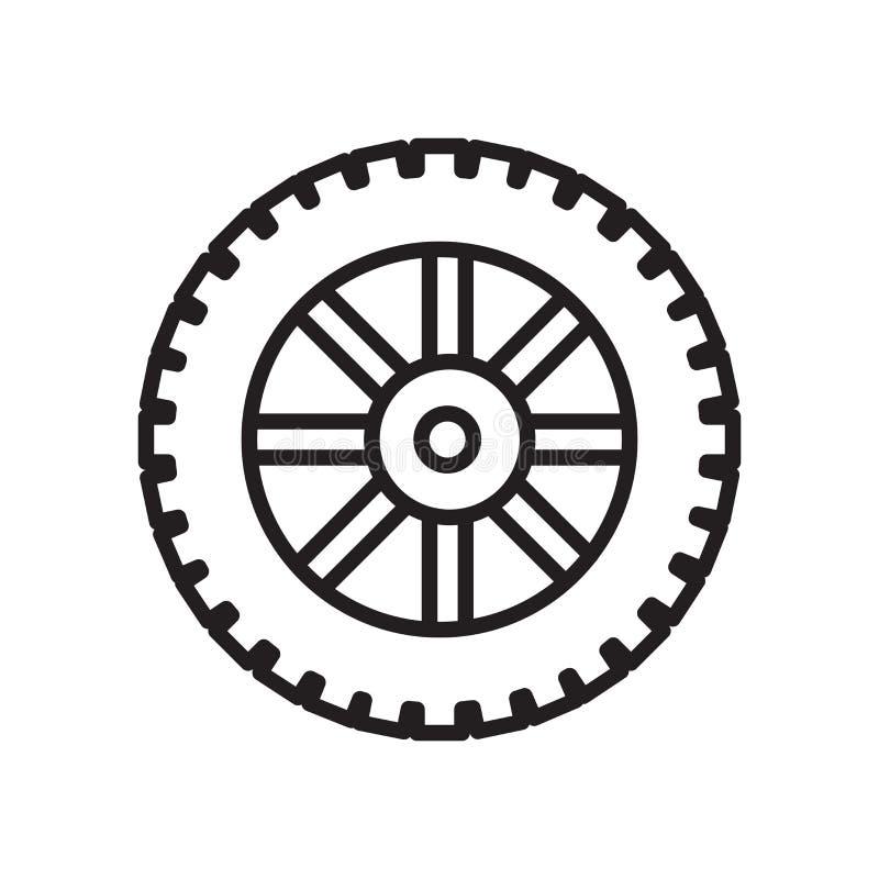 Het het vectordieteken en symbool van het bandpictogram op witte achtergrond, T wordt geïsoleerd stock illustratie