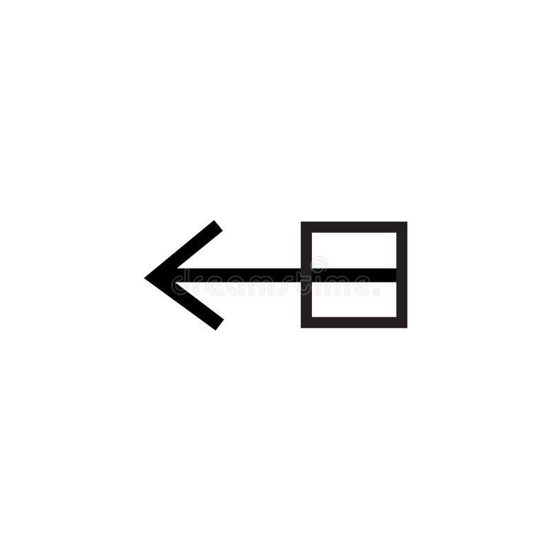 Het het vectordieteken en symbool van het belemmeringspictogram op witte achtergrond, het concept van het Belemmeringsembleem wor stock illustratie