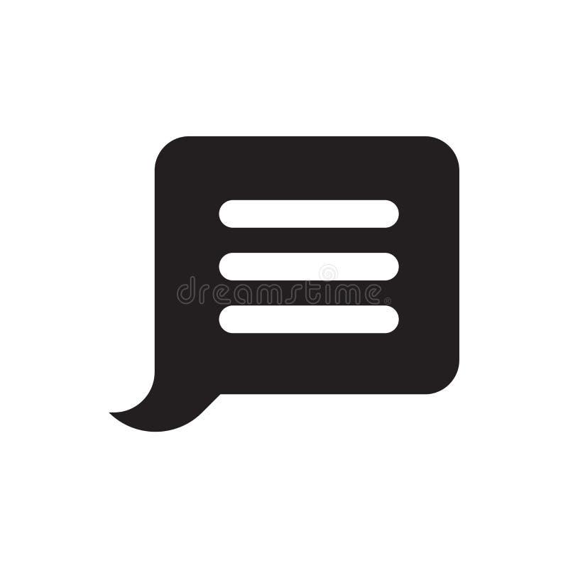 Het het vectordieteken en symbool van het berichtpictogram op witte achtergrond, het concept van het Berichtembleem wordt geïsole royalty-vrije illustratie