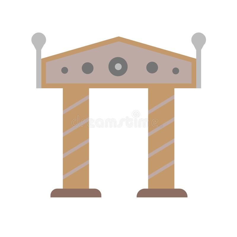 Het het vectordieteken en symbool van het boogpictogram op witte achtergrond, het concept van het Boogembleem wordt geïsoleerd vector illustratie