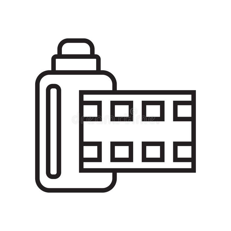Het het vectordieteken en symbool van het camera-albumpictogram op witte backgr wordt geïsoleerd stock illustratie