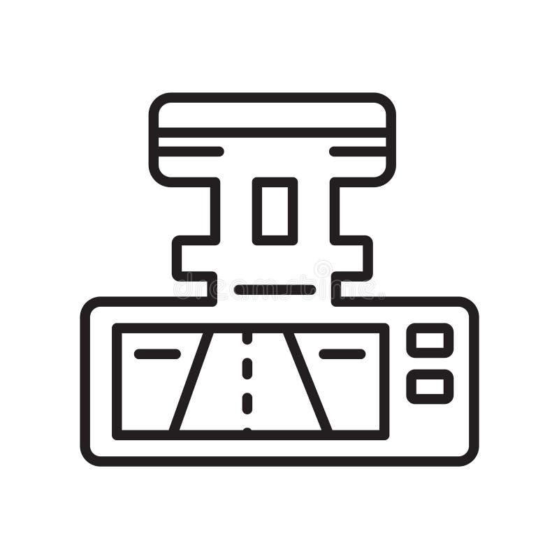 Het het vectordieteken en symbool van het camerapictogram op witte achtergrond wordt geïsoleerd royalty-vrije illustratie