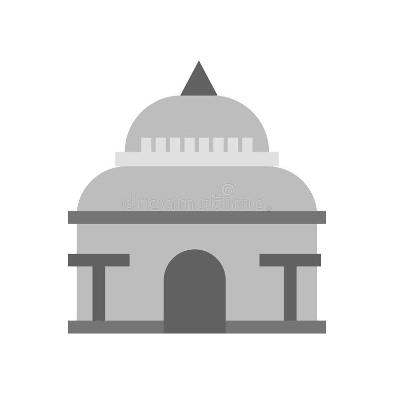 Het het vectordieteken en symbool van het Capitoolpictogram op witte achtergrond, het concept van het Capitoolembleem wordt geïso stock illustratie