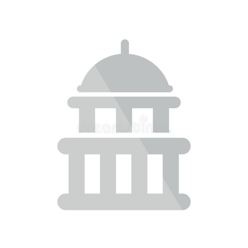 Het het vectordieteken en symbool van het Capitoolpictogram op witte achtergrond wordt geïsoleerd stock illustratie