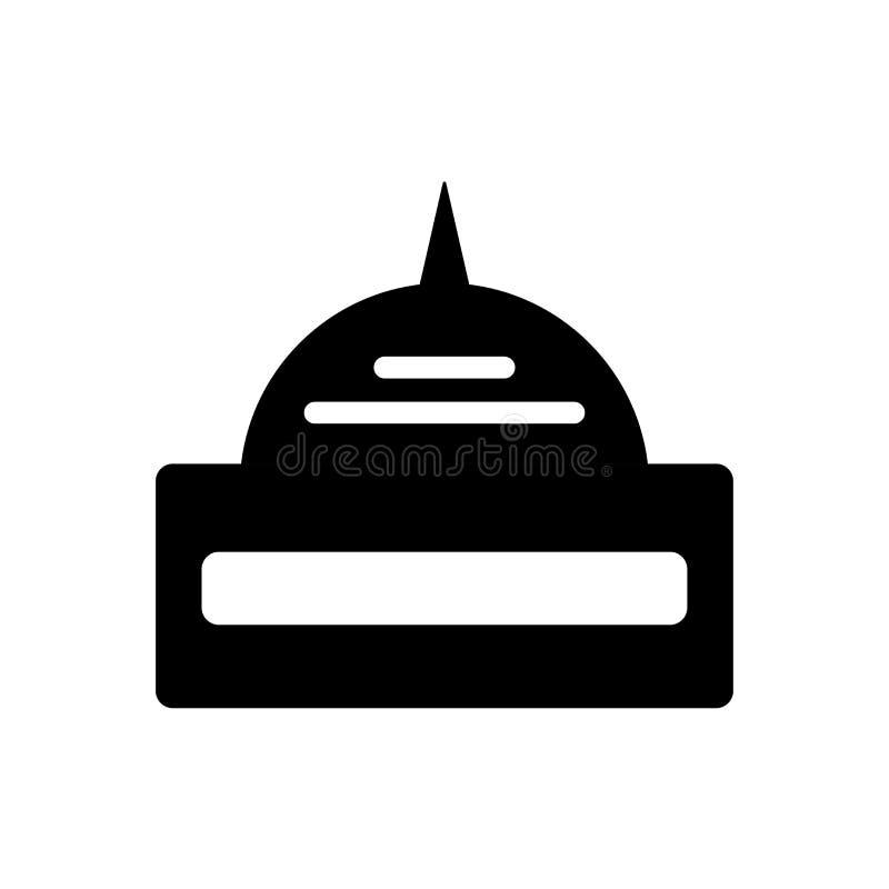 Het het vectordieteken en symbool van het Capitoolpictogram op witte achtergrond wordt geïsoleerd royalty-vrije illustratie