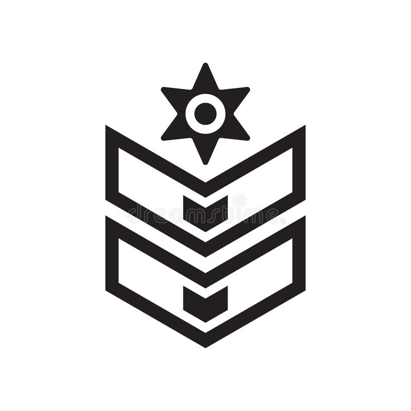 Het het vectordieteken en symbool van het chevronpictogram op witte achtergrond wordt geïsoleerd royalty-vrije illustratie