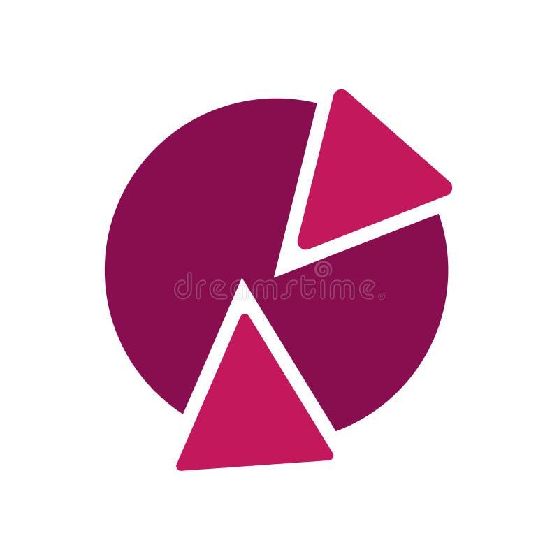Het het vectordieteken en symbool van het cirkeldiagrampictogram op witte achtergrond wordt geïsoleerd, het concept van het cirke stock illustratie