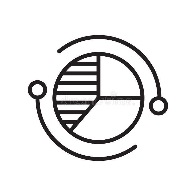 Het het vectordieteken en symbool van het cirkeldiagrampictogram op witte backgrou wordt geïsoleerd stock illustratie