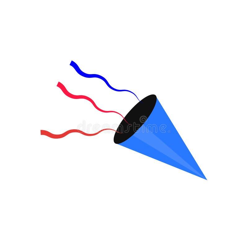 Het het vectordieteken en symbool van het confettienpictogram op witte achtergrond, het concept van het Confettienembleem wordt g royalty-vrije illustratie