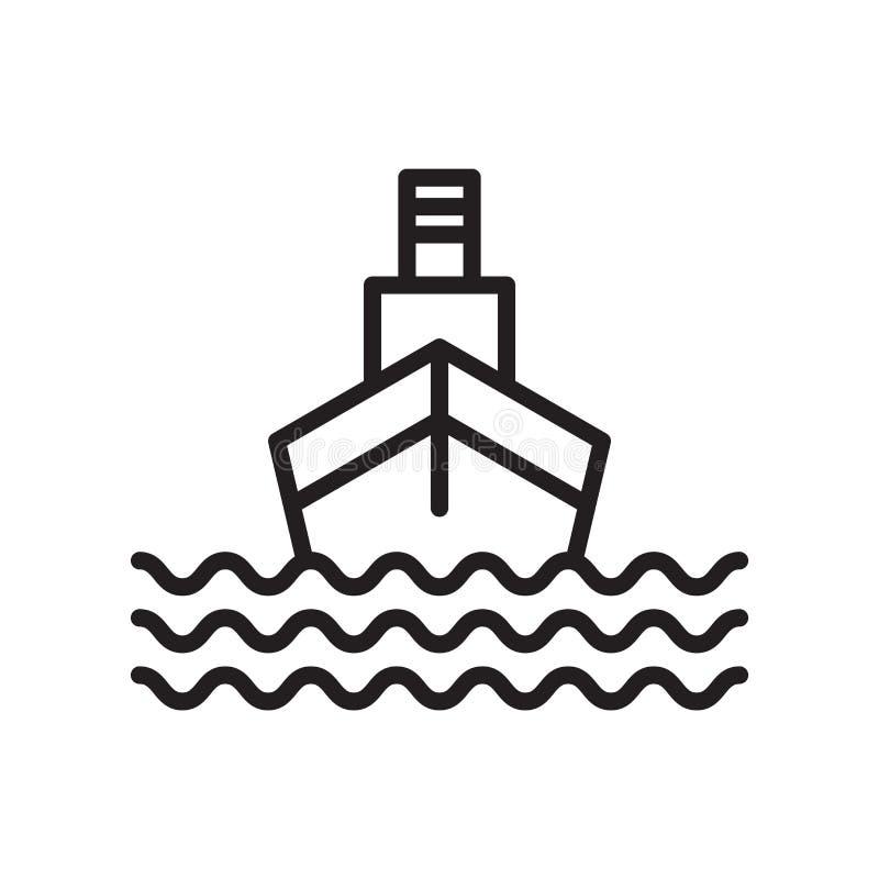 Het het vectordieteken en symbool van het cruisepictogram op witte achtergrond, het concept van het Cruiseembleem wordt geïsoleer stock illustratie