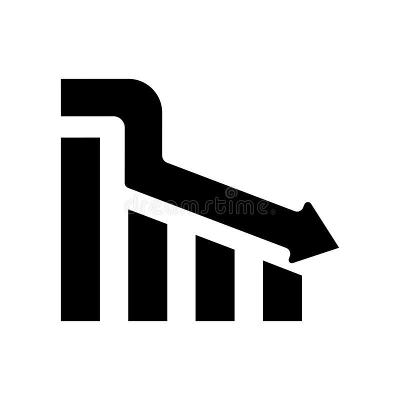 Het het vectordieteken en symbool van het dalingspictogram op witte backgroun wordt geïsoleerd stock illustratie