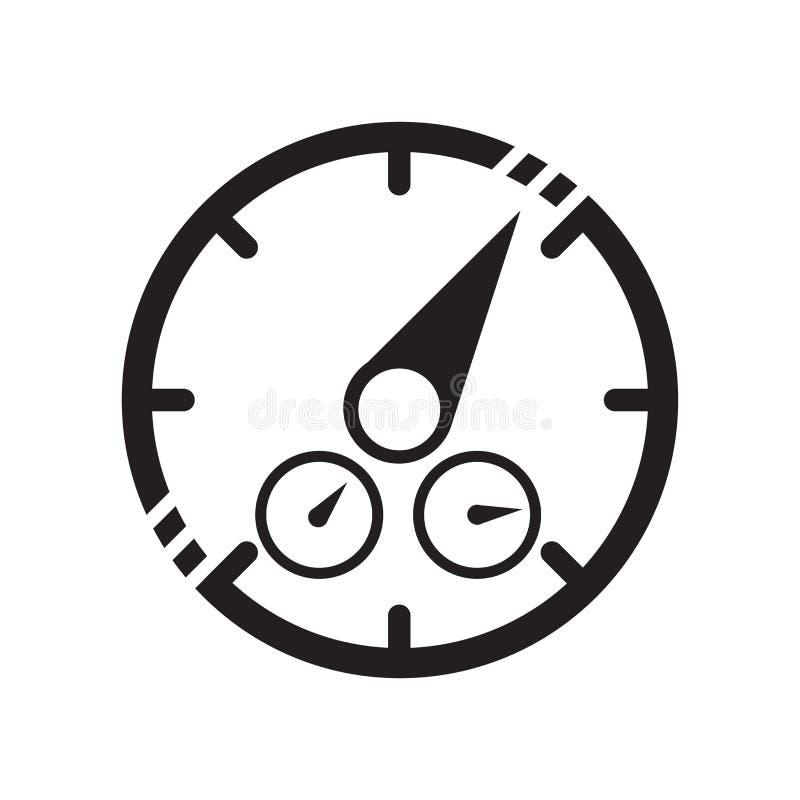 Het het vectordieteken en symbool van het dashboardpictogram op witte achtergrond, het concept van het Dashboardembleem wordt geï vector illustratie