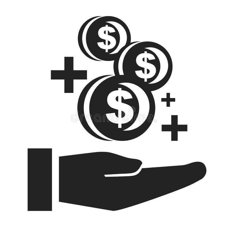 Het het vectordieteken en symbool van het de groeipictogram op witte achtergrond, het concept van het de Groeiembleem wordt geïso vector illustratie
