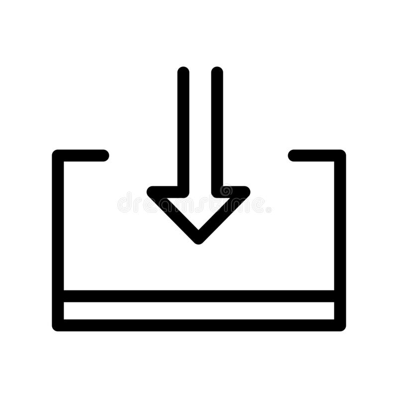 Het het vectordieteken en symbool van het de uitvoerpictogram op witte achtergrond wordt geïsoleerd vector illustratie