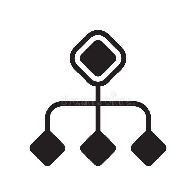 Het het vectordieteken en symbool van het diagrampictogram op witte achtergrond wordt geïsoleerd stock illustratie