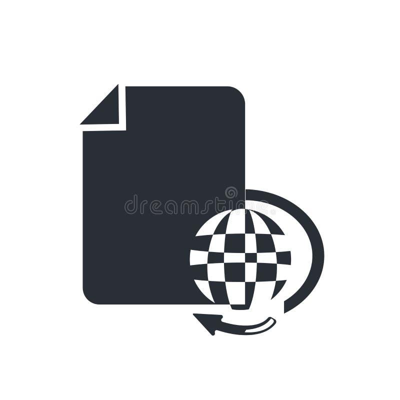 Het het vectordieteken en symbool van divers Dossierspictogram op witte achtergrond, Divers concept van het Dossiersembleem wordt stock illustratie