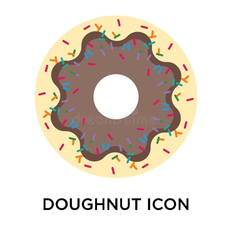 Het het vectordieteken en symbool van het doughnutpictogram op witte backgroun wordt geïsoleerd vector illustratie