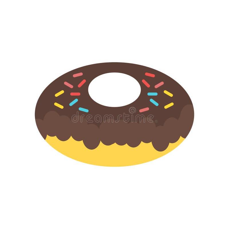 Het het vectordieteken en symbool van het doughnutpictogram op witte backgroun wordt geïsoleerd royalty-vrije illustratie