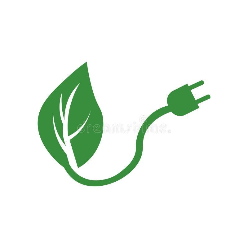 Het het vectordieteken en symbool van het duurzame energiepictogram op witte achtergrond, het concept van het Duurzame energieemb vector illustratie