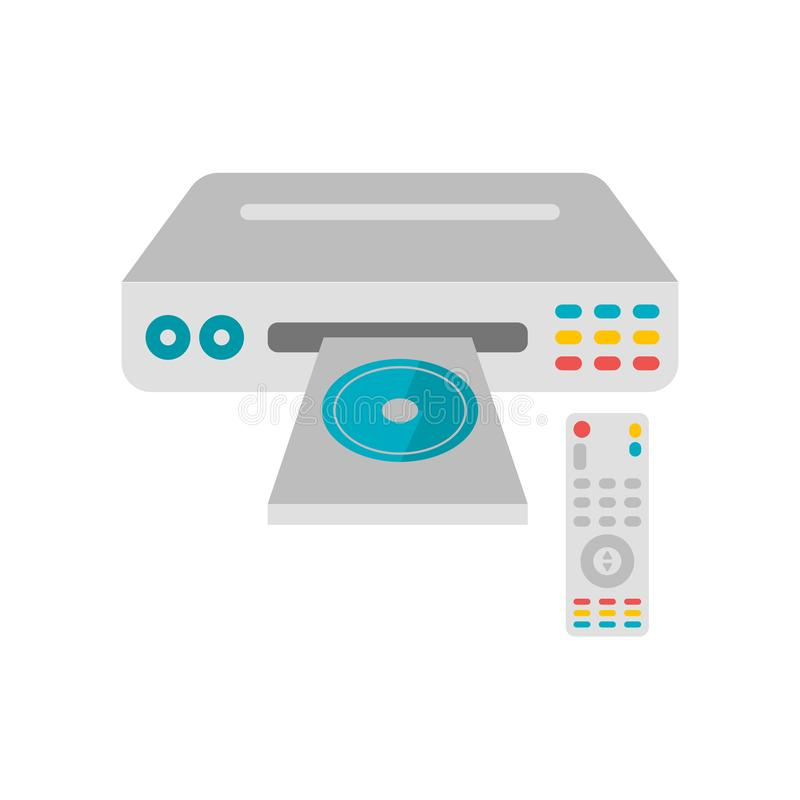 Het het vectordieteken en symbool van het Dvdpictogram op witte achtergrond, Dv wordt geïsoleerd vector illustratie