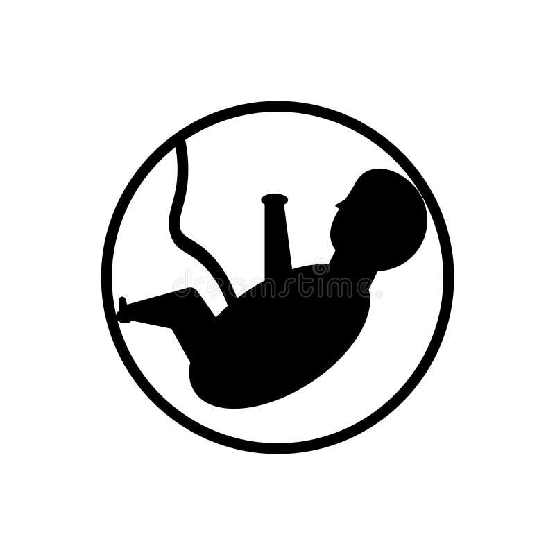 Het het vectordieteken en symbool van het foetuspictogram op witte achtergrond, het concept van het Foetusembleem wordt geïsoleer stock illustratie