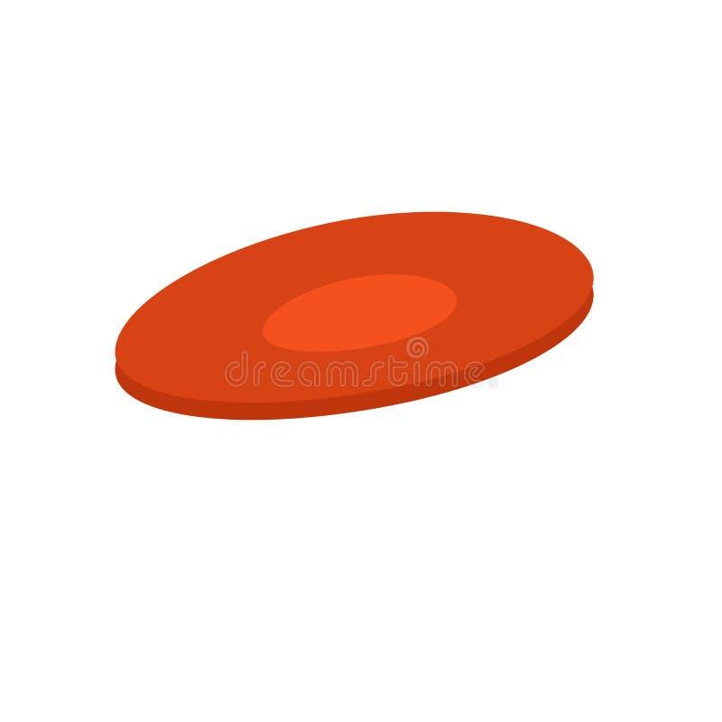 Het het vectordieteken en symbool van het Frisbeepictogram op witte achtergrond, Frisbee-embleemconcept wordt geïsoleerd vector illustratie