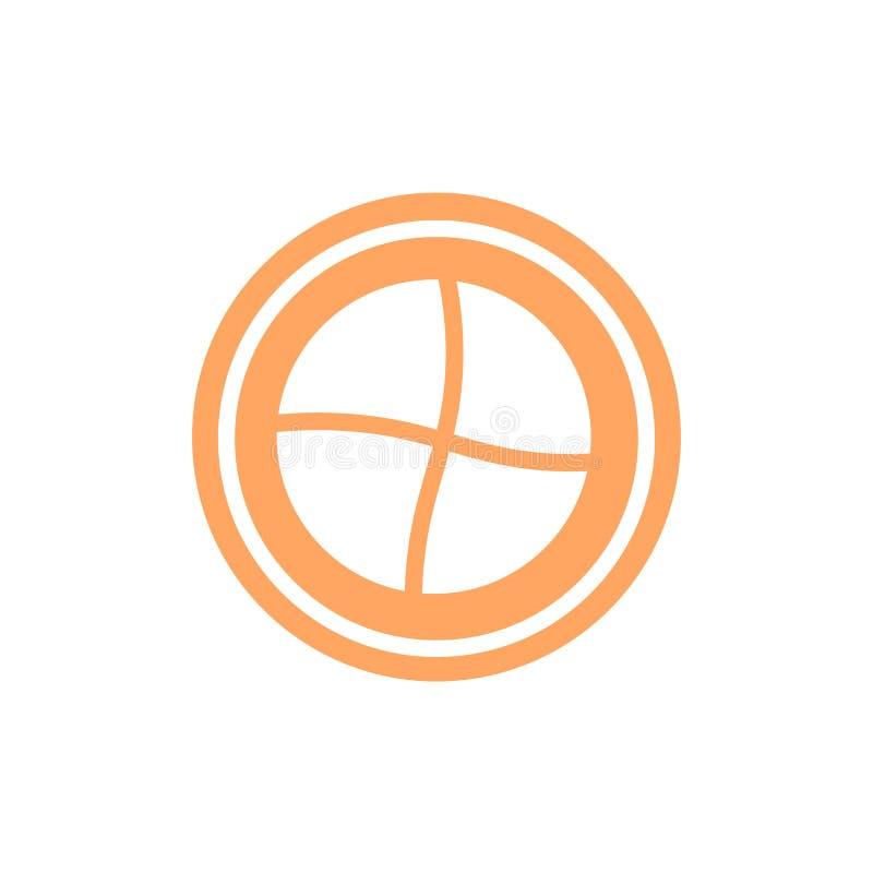 Het het vectordieteken en symbool van het Frisbeepictogram op witte achtergrond wordt geïsoleerd stock illustratie