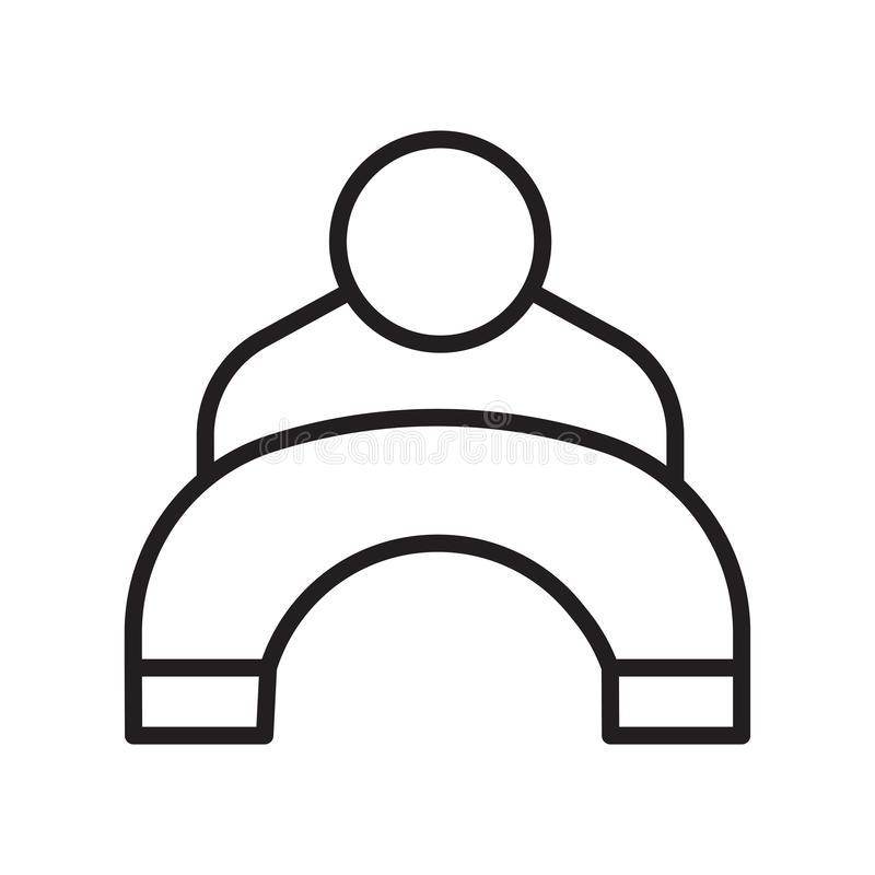 Het het vectordieteken en symbool van het gebruikerspictogram op witte achtergrond, het concept van het Gebruikersembleem, overzi vector illustratie